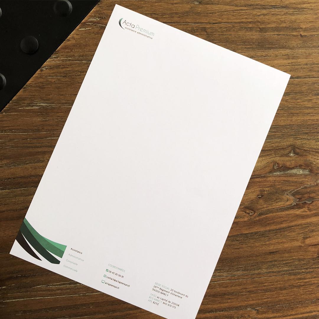 Acta Premium Tête de lettre