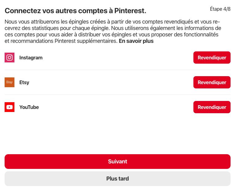Pinterest-renvendiquez son compte