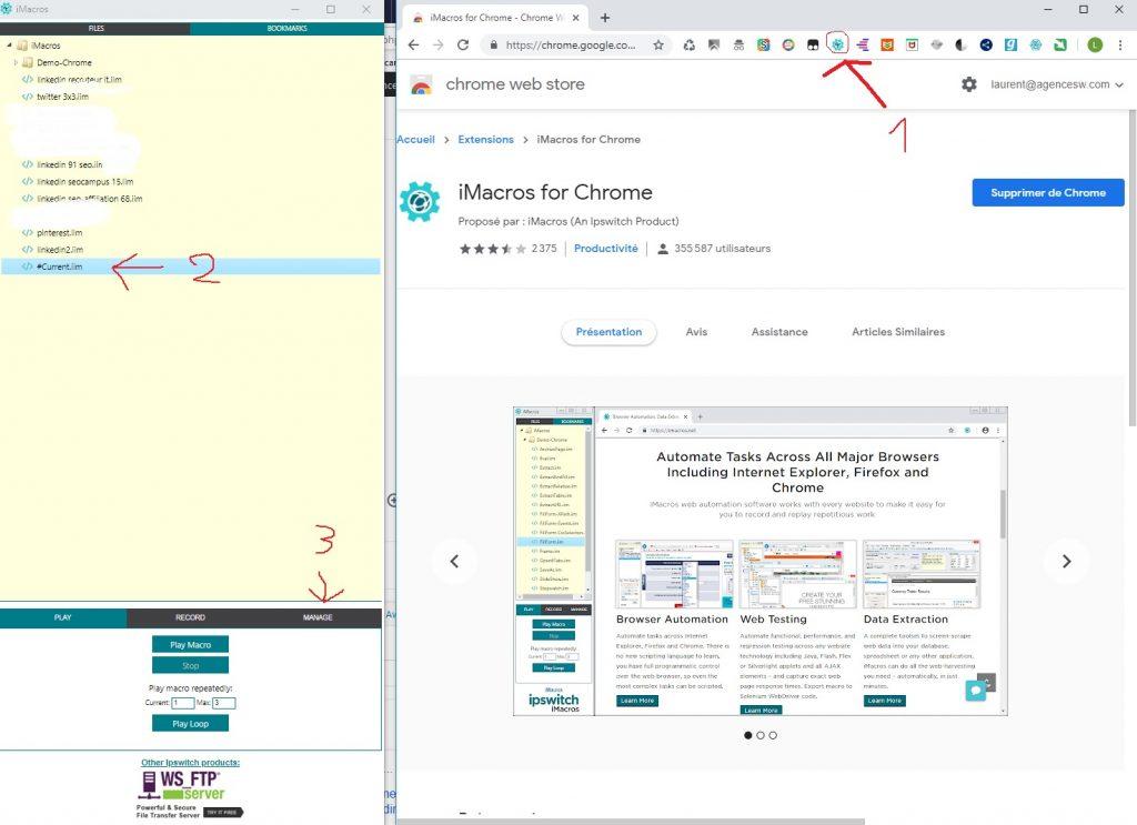 imacro pour automatiser linkedin